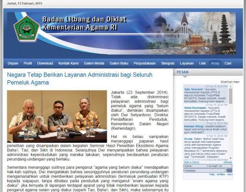 balitbang depag: layanan administrasi bagi seluruh pemeluk agama